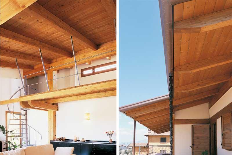 Soppalco e portico in legno