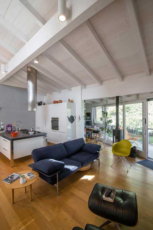 Casa a un piano ancona marche costantini sistema legno for Case moderne foto interni
