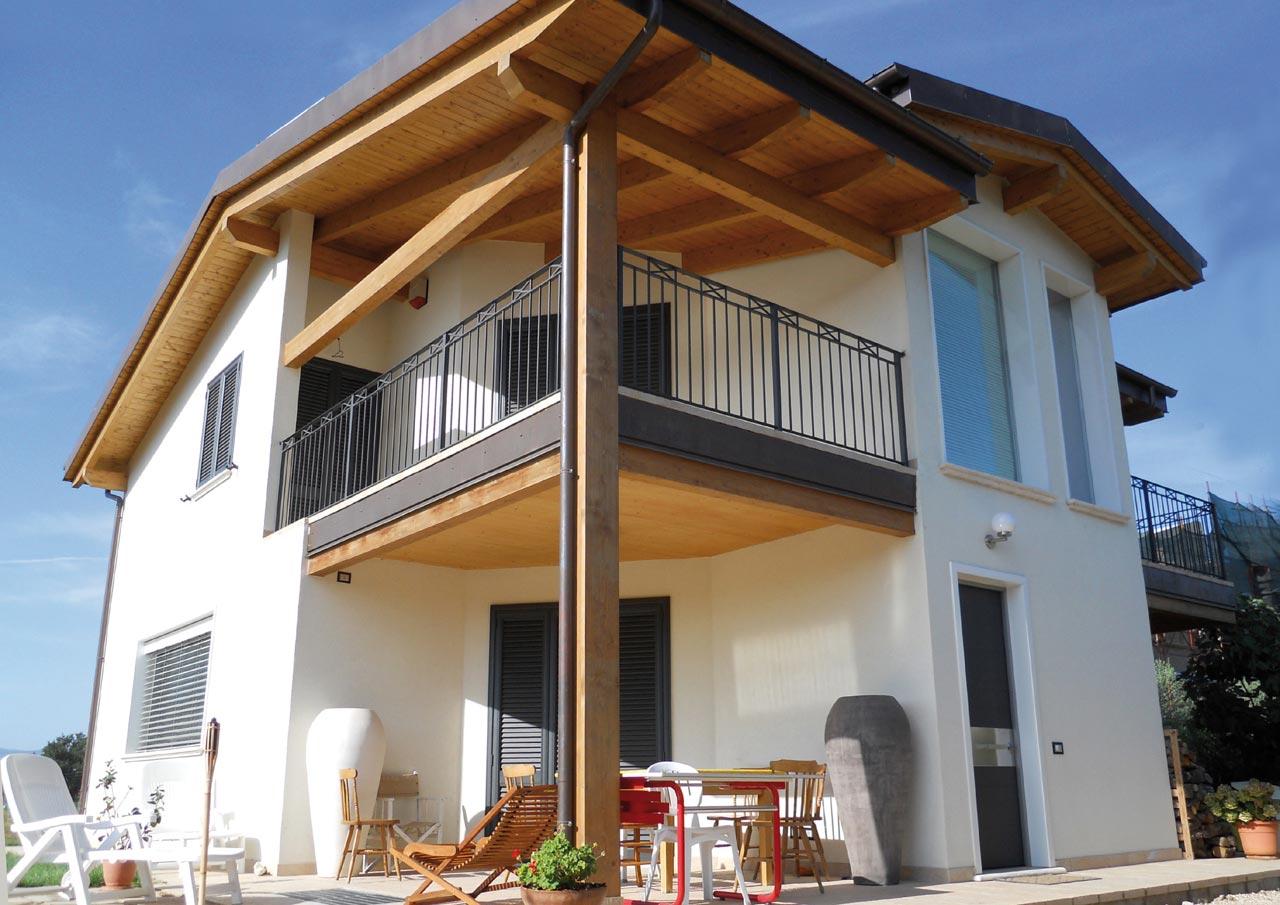 Casa a due piani perugia 2 umbria costantini sistema for Case in legno umbria