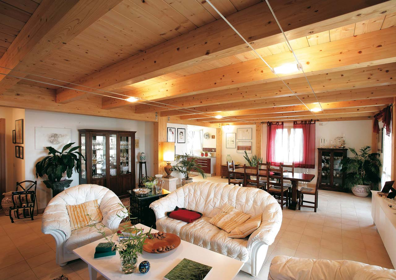 Casa a due piani umbria terni costantini sistema legno for Casa interni