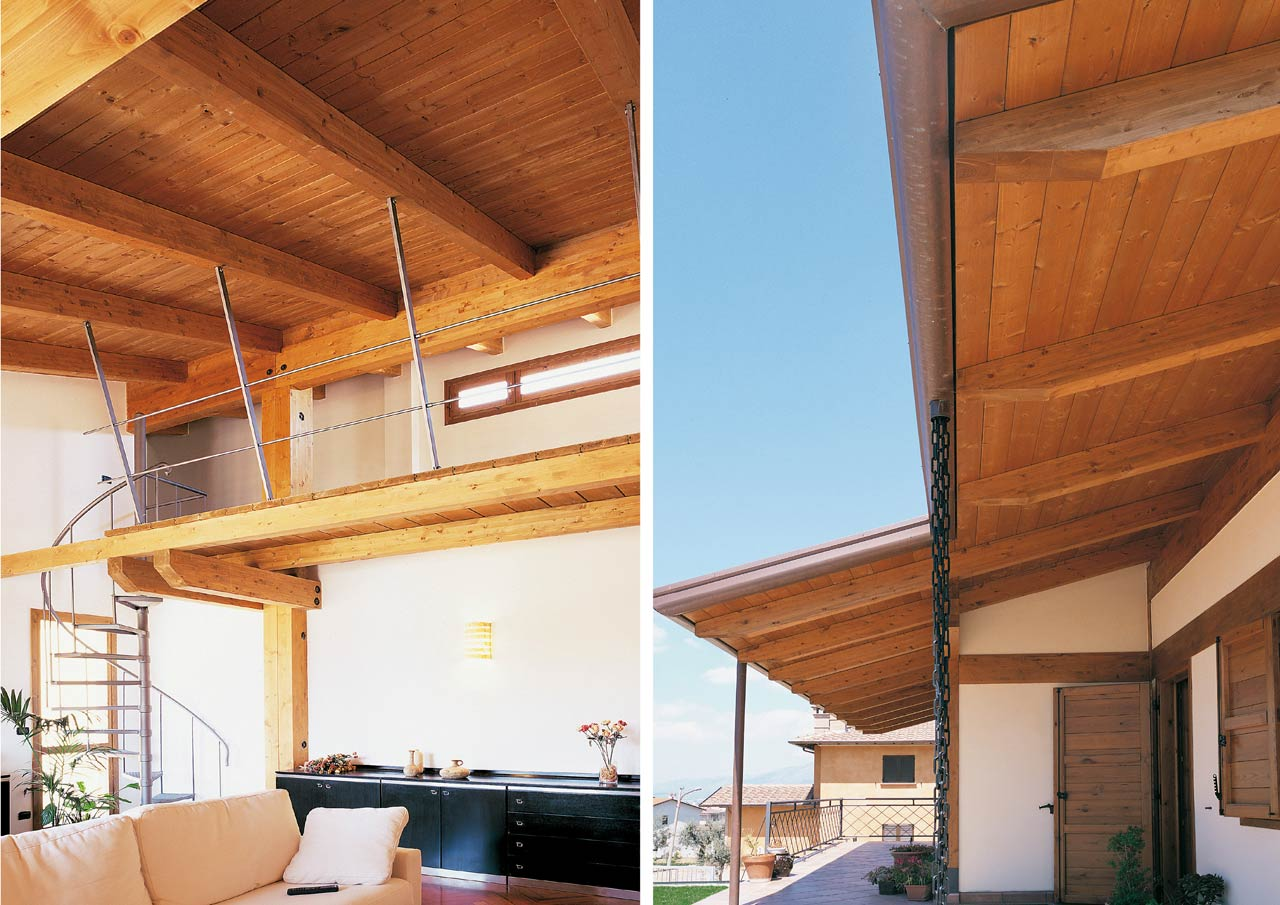 Casa a un piano teramo abruzzo costantini sistema legno for Cost case in legno