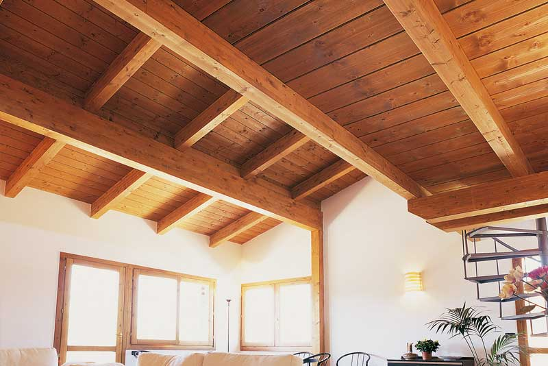 copertura in legno lamellare