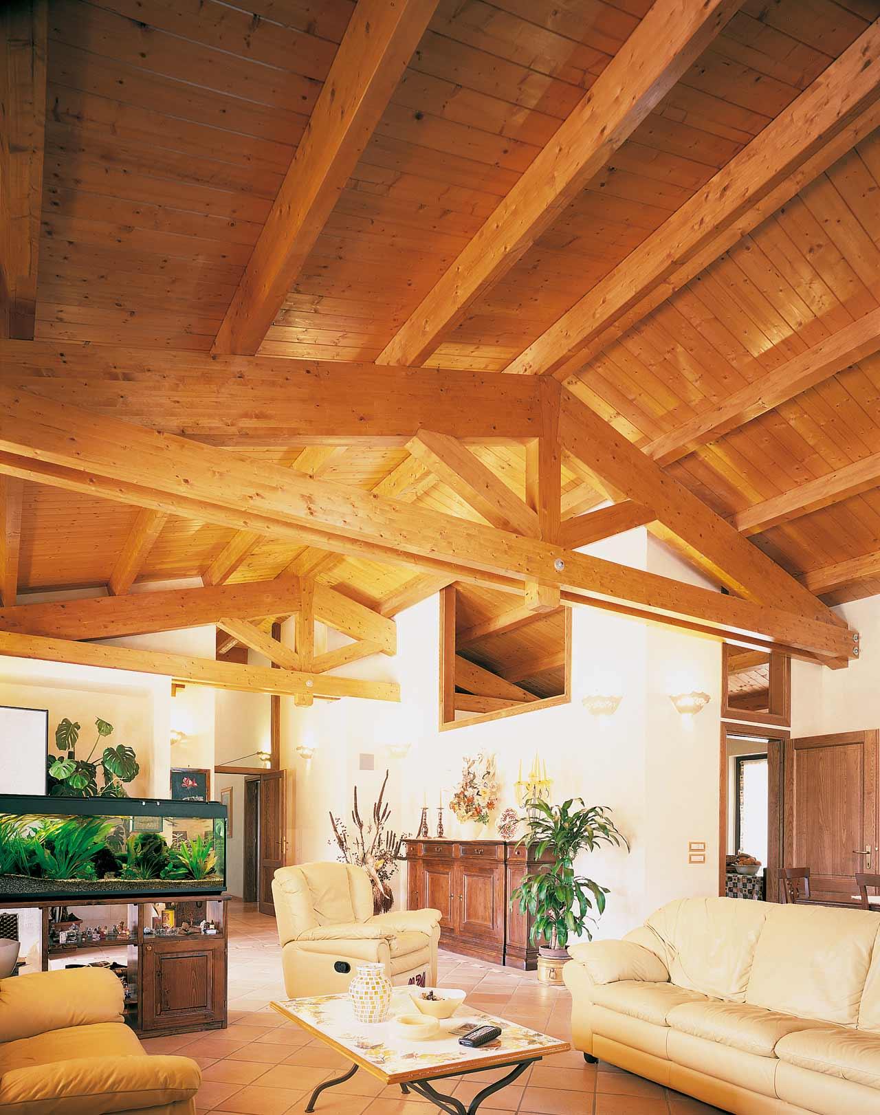 Tetto in legno casa perugia costantini sistema legno - Casa con tetto in legno ...