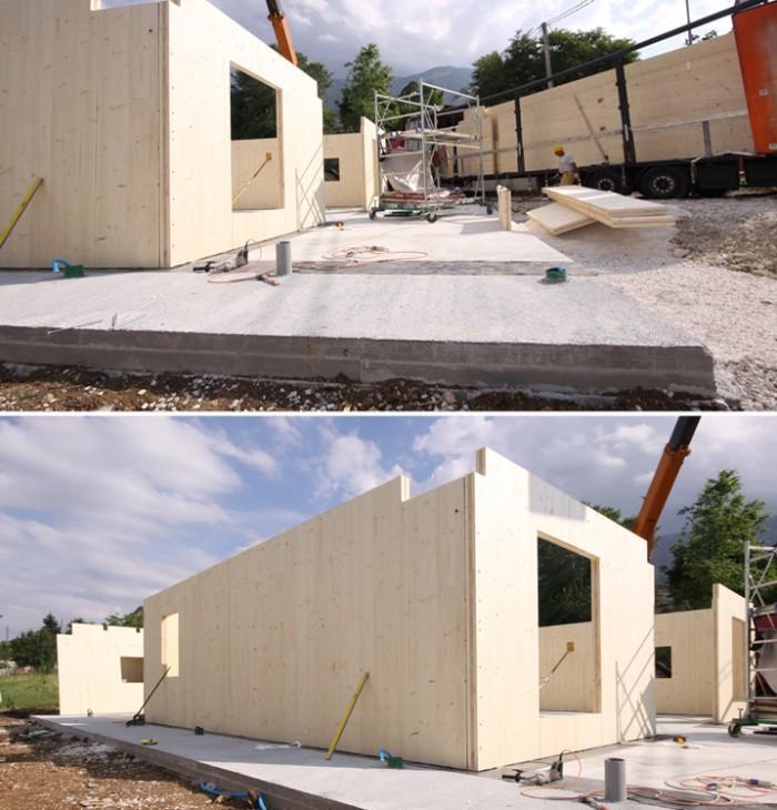 Case in bioedilizia come vengono costruite costantini for Platea per casa in legno