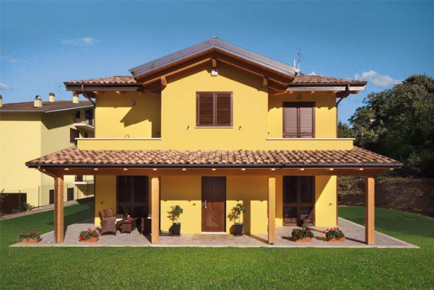 Gallery case costantini sistema legno for Case prefabbricate 100 mq