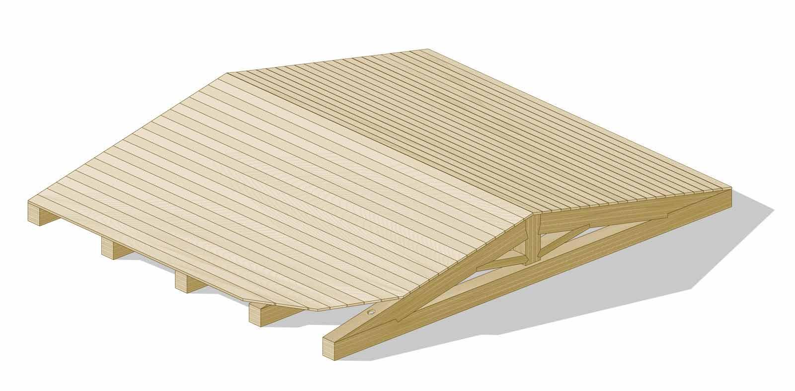 Tetto in legno ventilato
