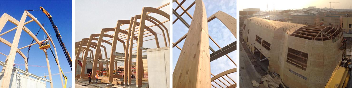 EXPO 2015 Milano architetto De Lucchi montaggio padiglione intesa sanpaolo