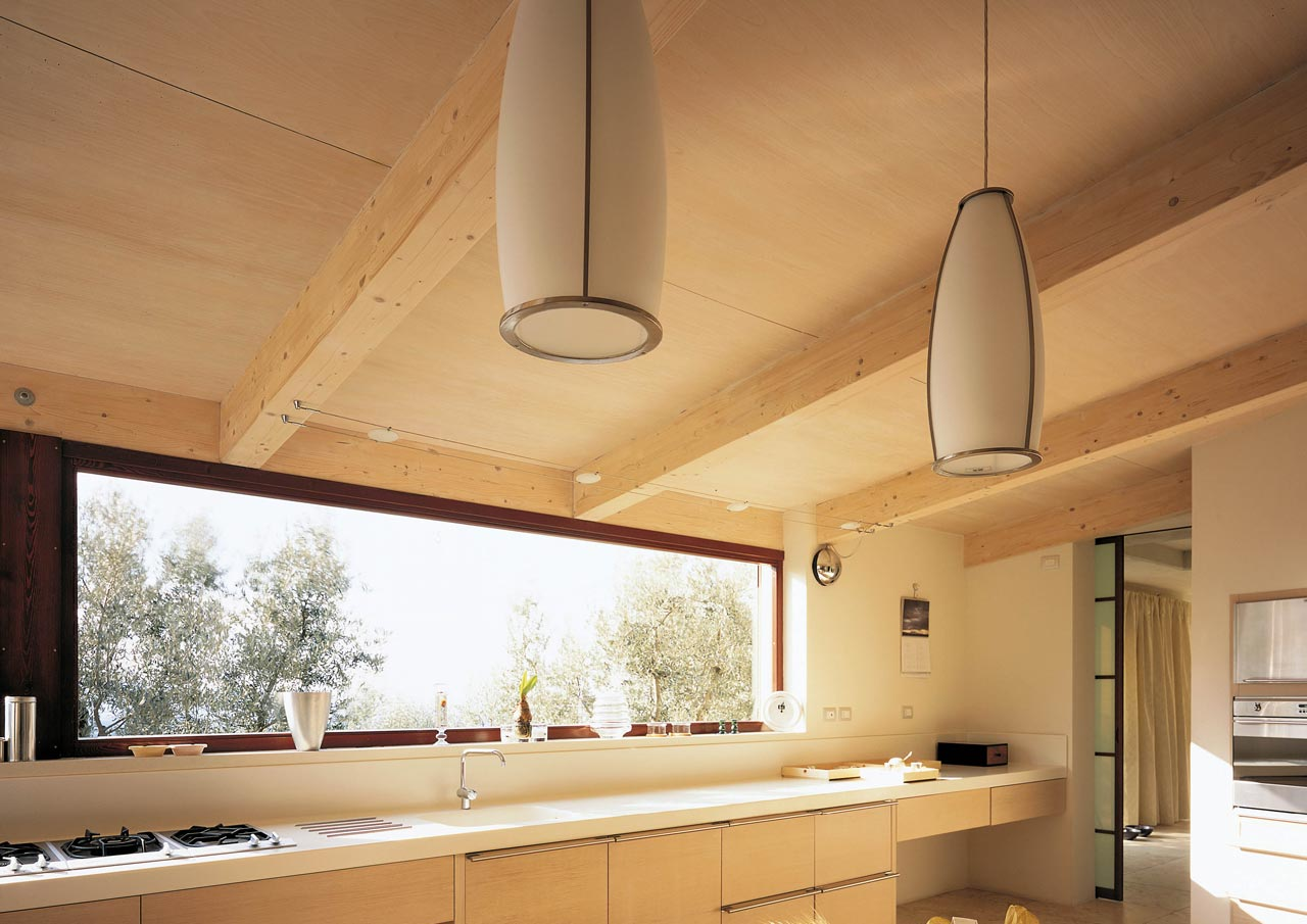 Casa a due piani assisi umbria costantini sistema legno - Case a due piani interni ...