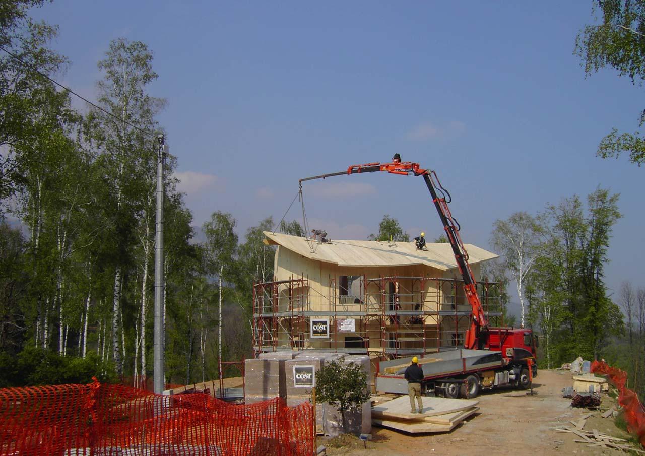 Casa a due piani emilia romagna costantini sistema legno for Piani a due livelli