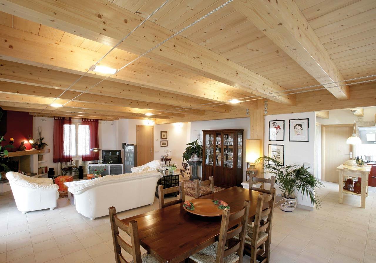 Casa a due piani umbria terni costantini sistema legno for Piani di casa rustici con soppalco