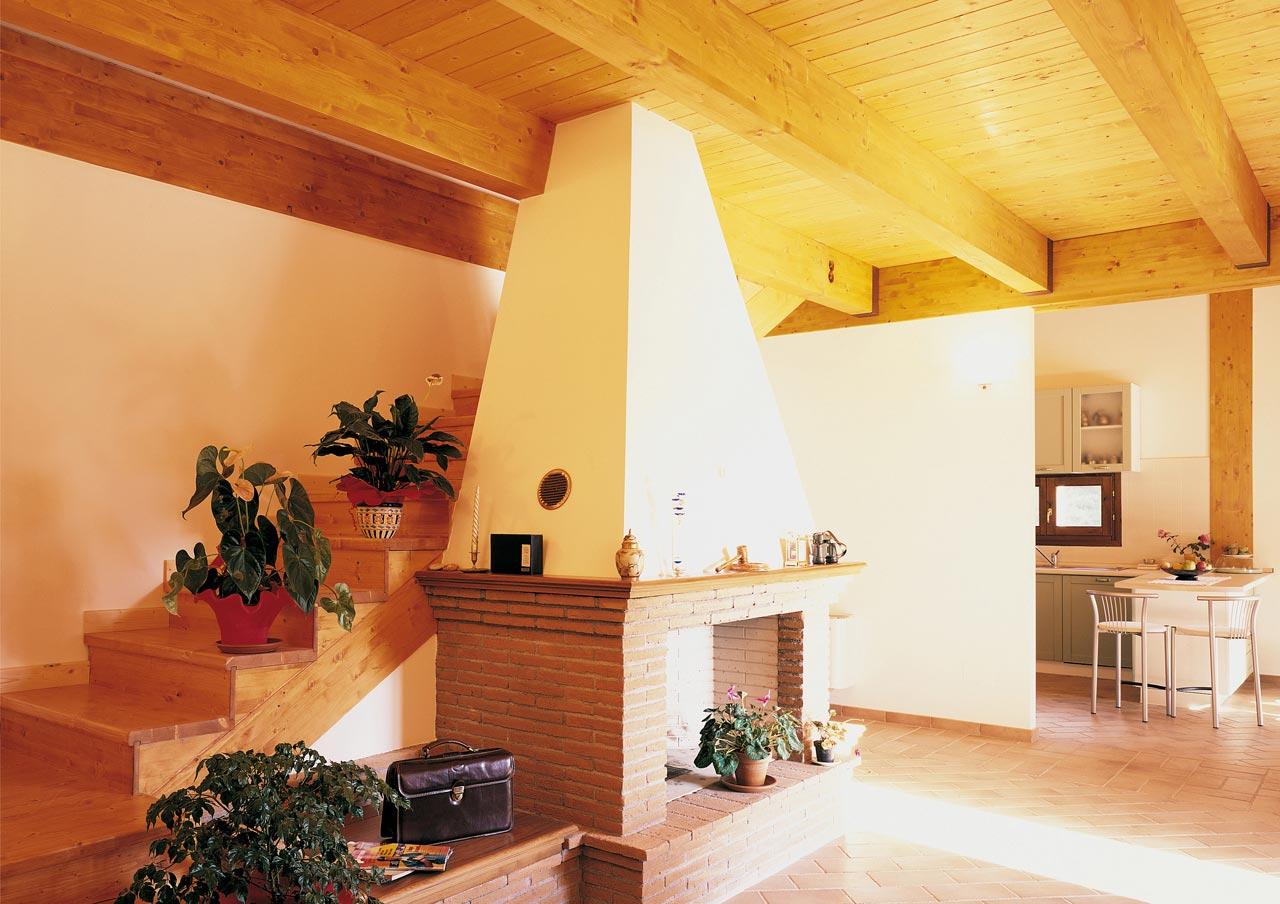 Casa a due piani umbria 2 costantini sistema legno - Interni case in legno ...