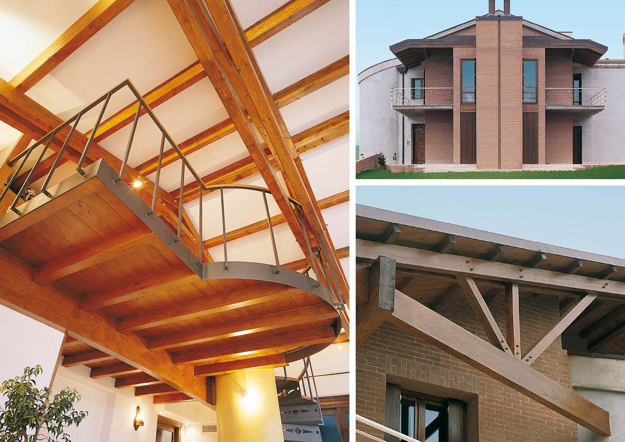 Casa a due piani interni costantini sistema legno for Case di legno in romania