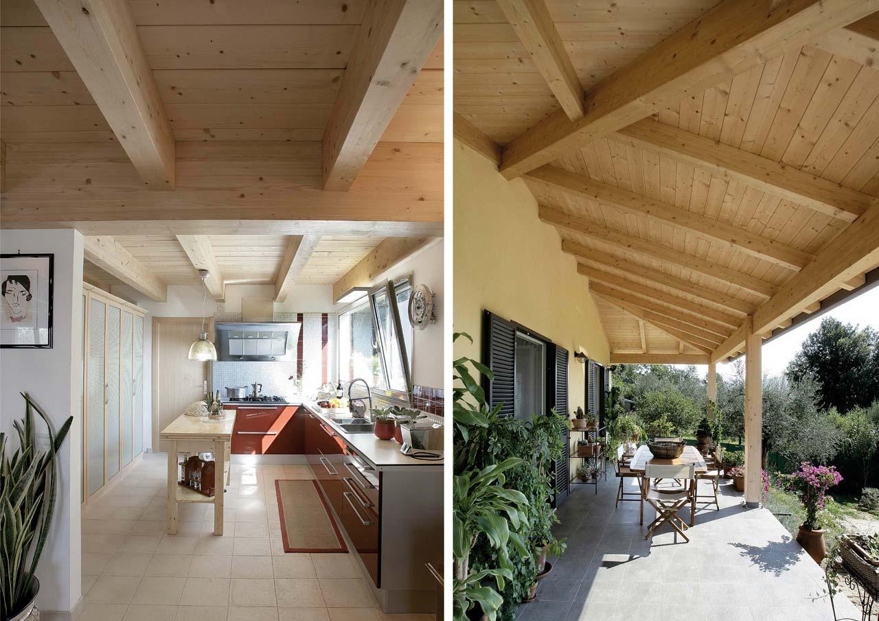 Casa a due piani umbria terni costantini sistema legno for Camino a due piani