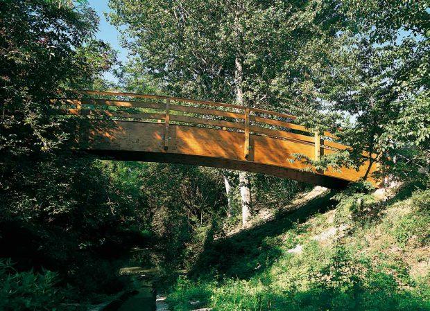 Ponti in legno e passerelle in legno for Gradini del ponte curvi