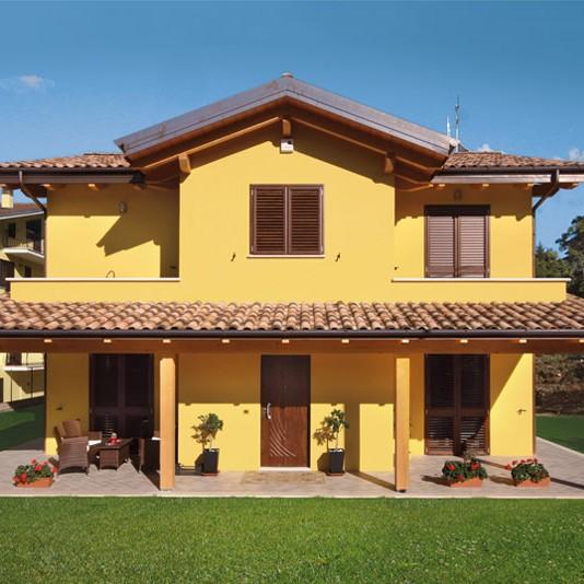 Casa a due piani l 39 aquila abruzzo costantini sistema for Piccoli piani di costruzione della casa