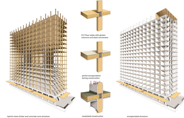 Nuovo record per il legno grattacielo di 18 piani in for Piccoli piani di costruzione commerciale