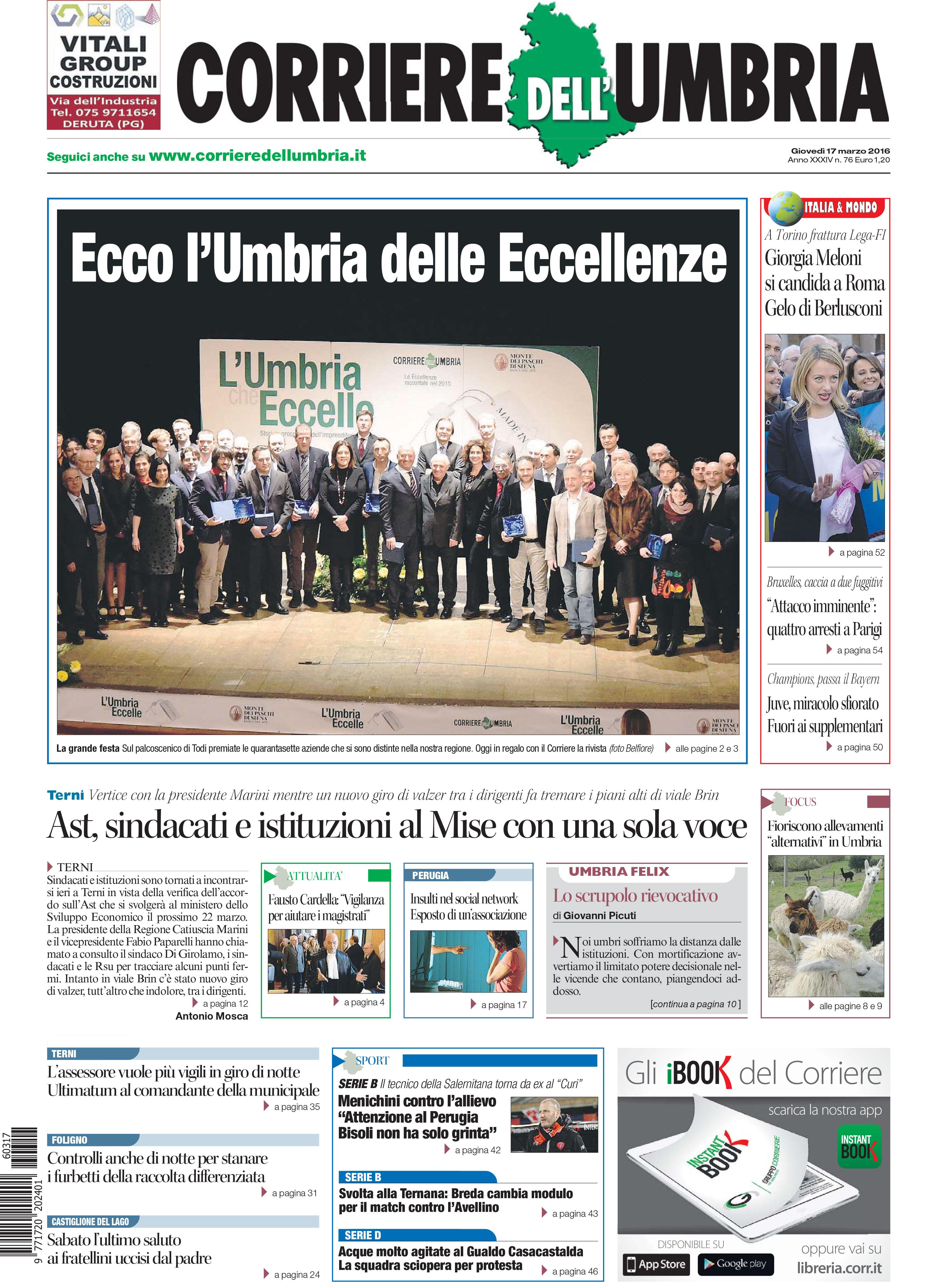 L'umbria che eccelle-LA Cost - Corriere dell'Umbria-03