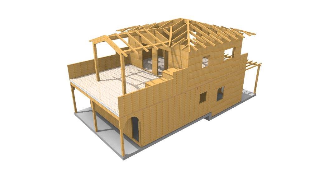 casa in legno verona 3d_3