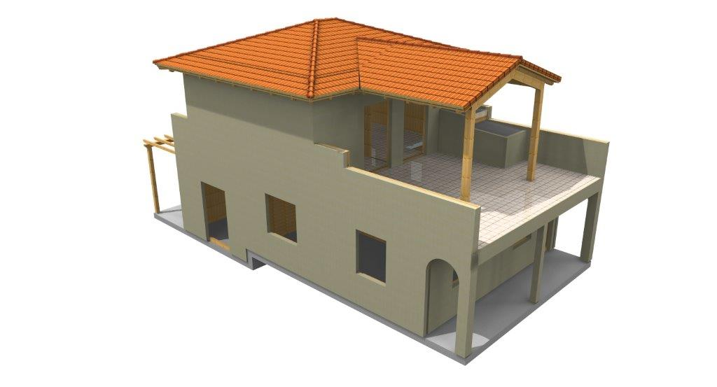 casa in legno verona 3d_2